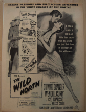 The Wild North (1952) - Stewart Granger - Vintage Trade Ad